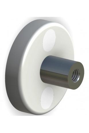 Afstandsbøsning, rustfast stål til 2 typer kulisseskinner, længde 36 mm. JB 286-00-36