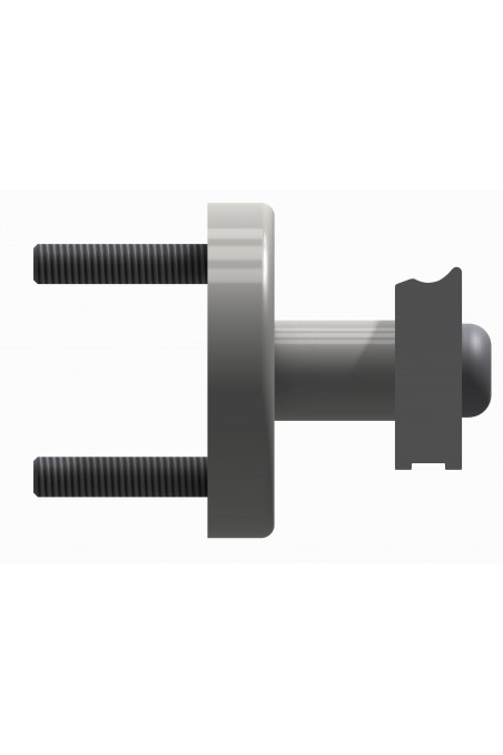Spacer to two types of wall rails, length 36mm, JB 400-00-36