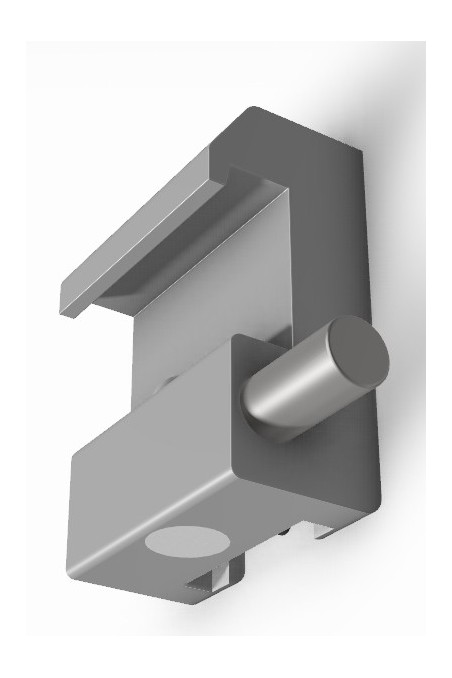 Slide clamp half model, with one ball clasp and T-slot. JB 146-00-00