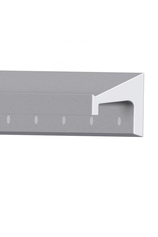 JBM Kulisseskinne, aluminium, Skandinavisk Standard 10x30 mm