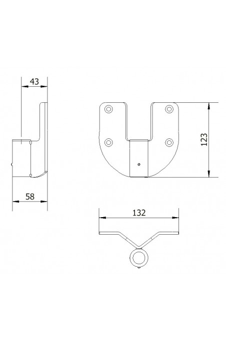 Wall bracket, Circular, Stainless Steel, 20mm Hole. JB 31-00-00, by JB Medico