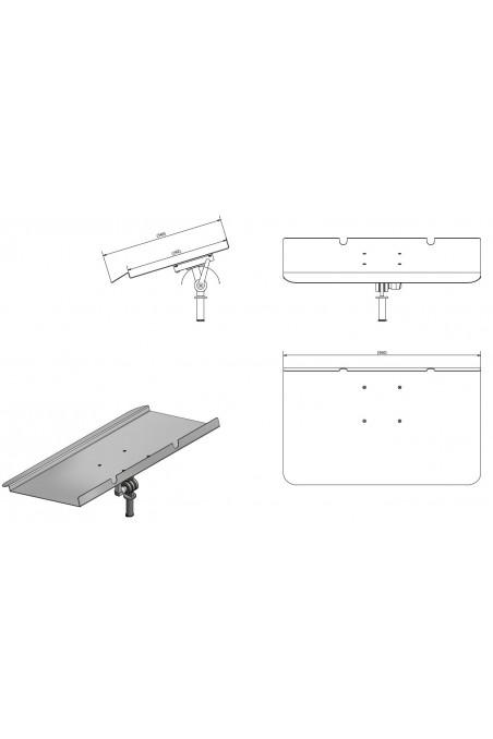 Ophæng til bærbare pc'er, rustfast stål med Ø20mm aksel, JB 209-00-00