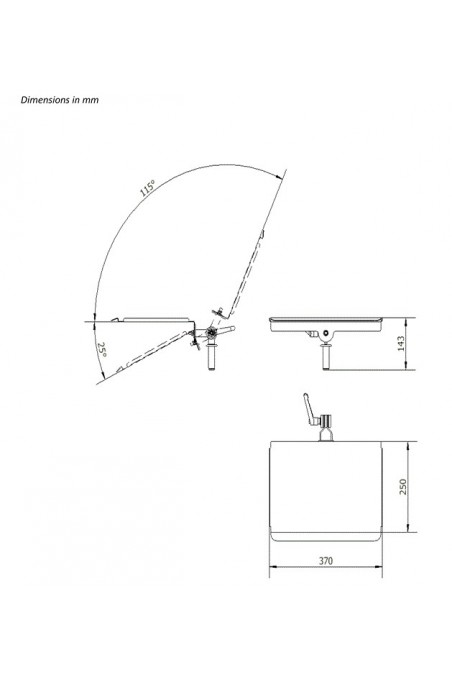 Suspension Tray for medical equipment, Stainless Steel, Ø20mm. JB 253-00-00