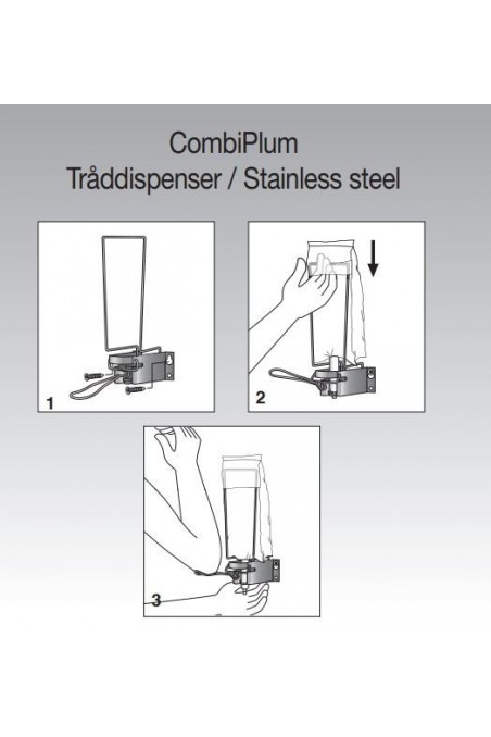 CombiPlum tråddispenser, 1 liter pose, 10 cm arm. JB 42-90-03