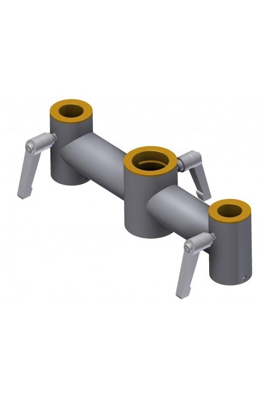 Klembeslag, dobbelt, Ø20 x 30 x 20 mm, til montering af IT-udstyr