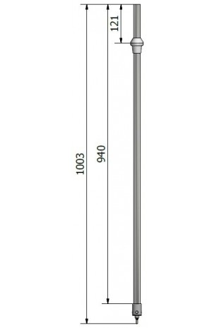 Telescopic pole for drop and infusion stands, JB 317-00-13 by JB Medico