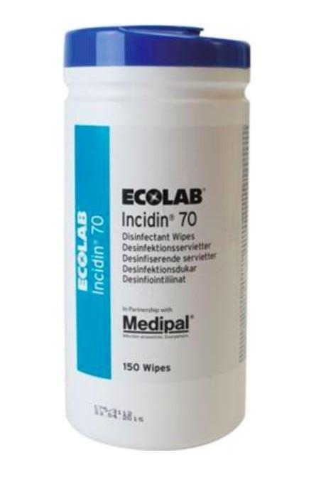 Incidin 70%, vådservietter til overfladedesinfektion, 195 x 210 mm, JB 72-888-31-01