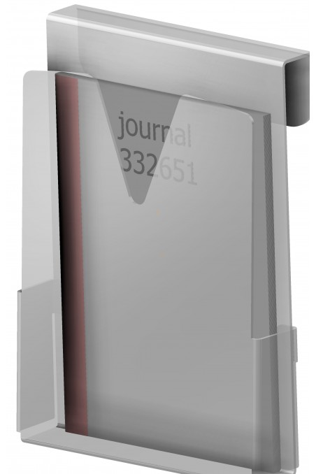 Hospital Journals holder in hard frosted plastic, JB 115-00-00 by JB Medico