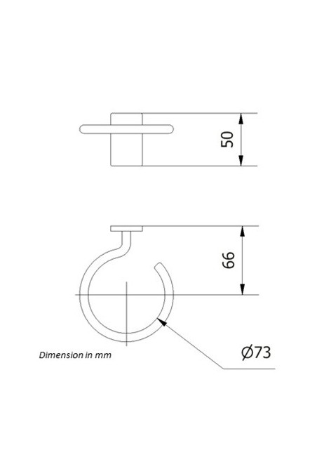 Bracket for Sharps containers, round, Ø73 mm. JB 150-00-00 by JB Medico