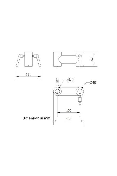 Klembeslag, Ø20 x 20 mm for montering af IT-udstyr, JB 63-00-00