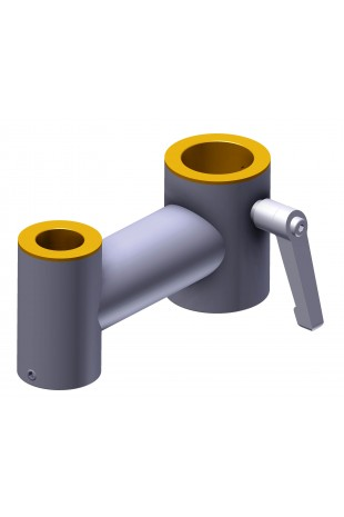 Pole Clamp, Ø30x20mm for mounting LCD Monitors on pipe or column, JB 64-00-00