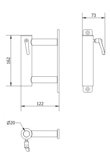 Monteringsbeslag  af IT udstyr på Anæstesiapparatur, JB 49-00-00 , af JB Medico