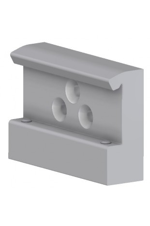 Slide clamp, wide model, locked using two socket screws. JB 206-00-00
