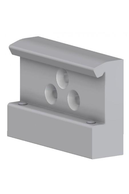 Slide clamp, wide model, locked using two socket screws. JB 206-00-00