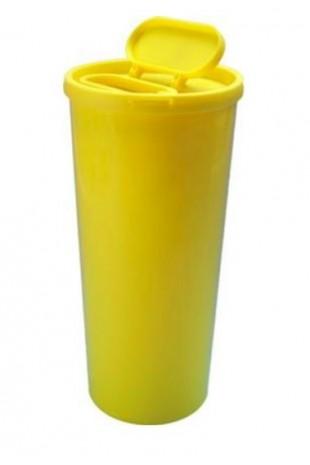 Uson kanylebøtte, gul, speciel med stor åbning i låg, 3000 ml, JB 31-527-30-01