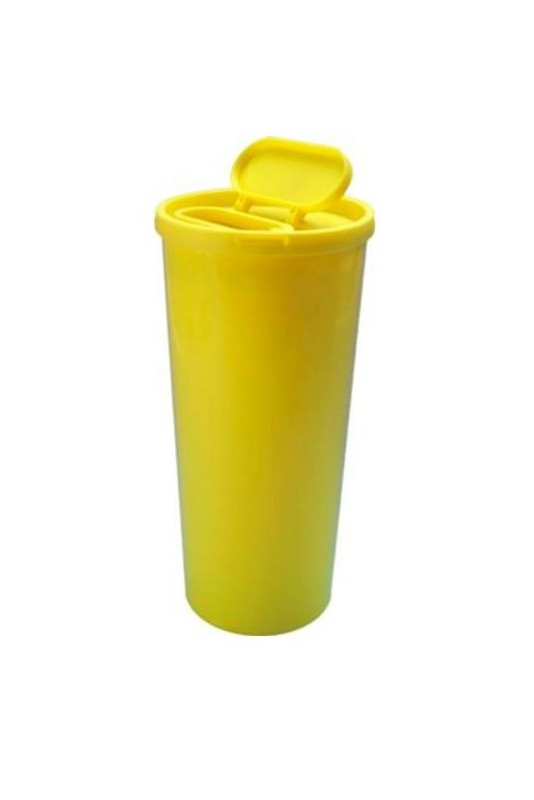 3.0 litre USON Sharps Container yellow, special with large opening in lid, JB 31-527-30-01