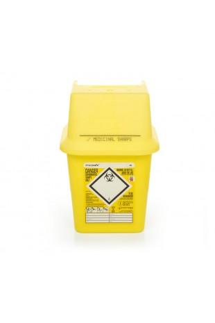 Kanyleboks, Sharpsafe, firkantet, gul, 4 liter, JB 228-110
