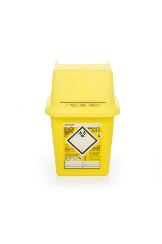 SHARPSAFE CONTAINER, 4 LITRE