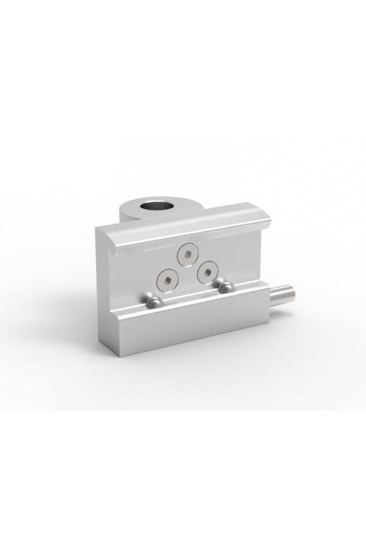 Kulisseklo, bred model, adapterbeslag, to kuglelåse & Ø18mm bøsningshul