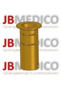 Slide clamp, wide model with one-ball clasp with fixing device and brass bush, Ø20 mm hole. JB 145-03-20