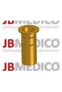 Rail Clamp, wide model, locked using two socket screws With Fixing device and brass bush, Ø20mm hole, JB 206-03-20
