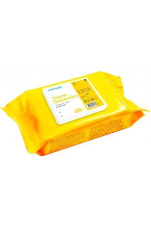 Wet Wipe, TRIAMIN, desinfektion, gul, Mini, 43×30 cm, 81133, af JB Medico