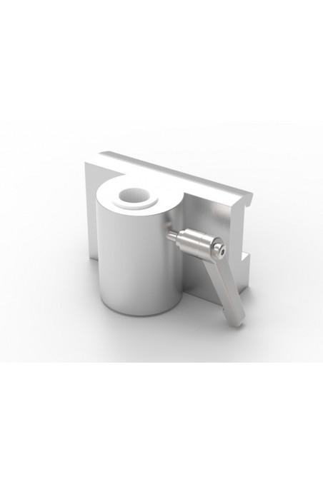 Slide clamp, wide model, locked using two socket screws. JB 206-03-18