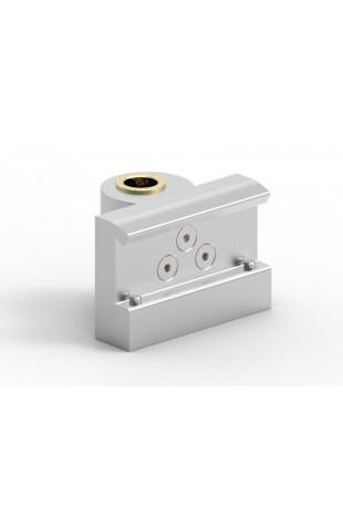 Kulisseklo, bred model, låses med 2 pinolskruer, adapterbeslag, messingbøsning & 20mm hul, JB 206-03-20