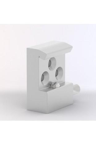 Kulisseklo, smal model med 1 kuglelås og 3 huller. JB 121-03-00