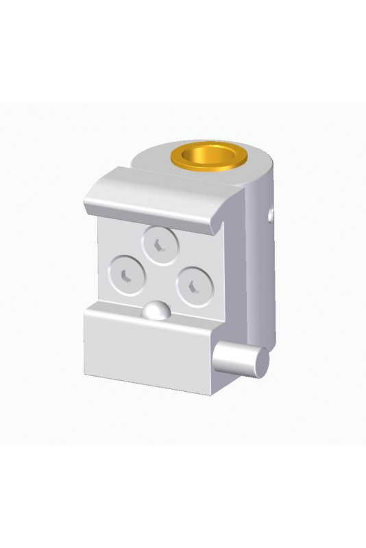 Slide clamp half model, locked with one ball clasp with fixing device and  brass bush Ø20 mm hole  JB 121-03-20