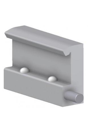 Kulisseklo, bred model, med 2 kuglelåse. JB 104-00-00