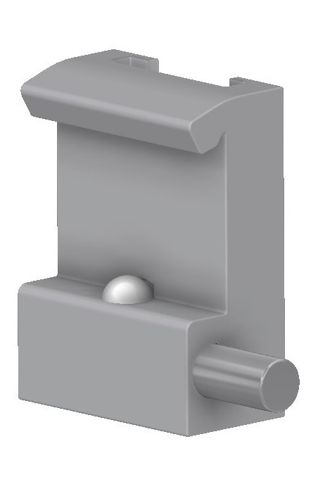 Slide clamp half model, locked with one ball clasp, and a T-slot track. JB 120-00-00 by JB Medico