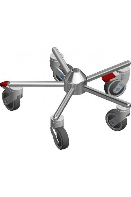 Swivel castors 100 mm. Stainless steel, (Levina) Gray, 5380PJC100P30-13 by JB Medico