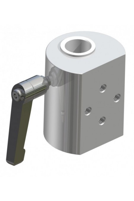 Slide clamp, a wide model with one ball clasp and three pcs. countersunk Ø6,6mm holes. JB 145-03-00 by JB Medico