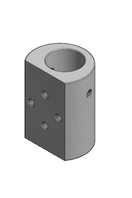 Fixing device for rail clamps and multi brackets, Ø25mm hole. JB 205-00-00 by JB Medico