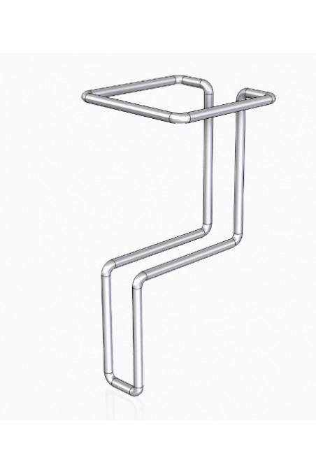 Table and wall dispenser for smooth table tops, stainless steel (AISI 304), JB 162-67-87, by JB Medico