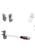 Wall brackets for 25 L wire basket. JB 281-00-00 by JB Medico