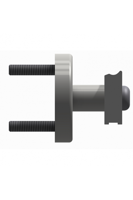 Spacer to two types of wall rails, length 36mm, aluminium, JB 400-00-36 by JB Medico