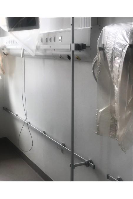 Wall or equipment fittings for medical rails, ALU. JB 400-00-00 by Jb Medico