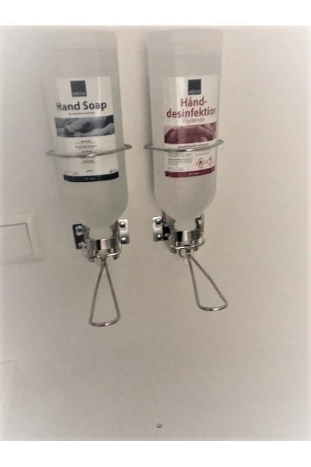 Soap and alcohol dispenser for bottles, 14 cm arm, Elbow attendant, JB 06-21-30, by JB Medico