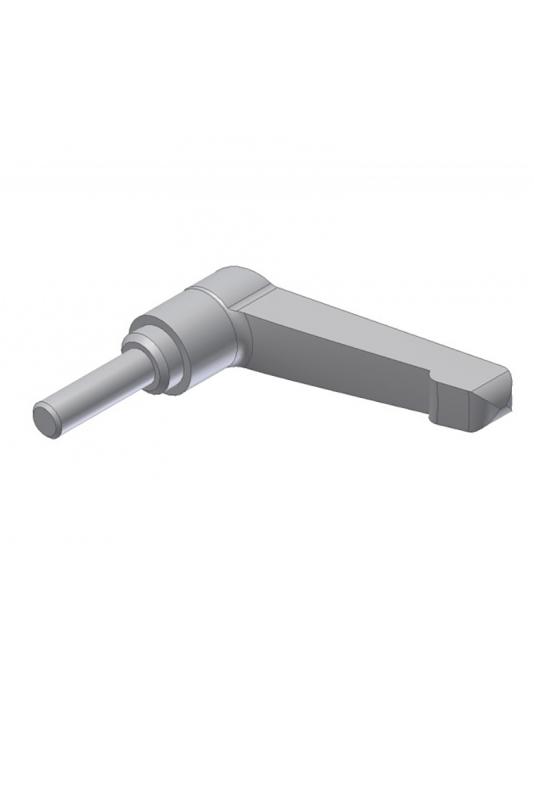 Låsehåndtag, M6x20 mm, rustfast stål