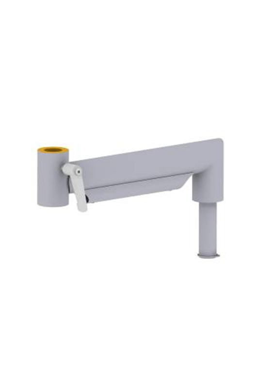 Manuel extension monitor arm, stainless steel