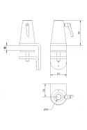 Multi bordbeslag, Ø20 mm aksel, JB 90-00-00