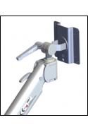 Monitor Bracket, Ø20mm, Stainless Steel, VESA 100X100mm / 75X75mm. JB 27-00-00, by JB Medico