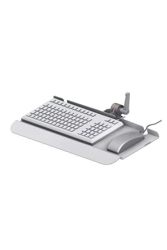 Keyboard Tray, Hand Support, Stainless Steel, Ø20 mm