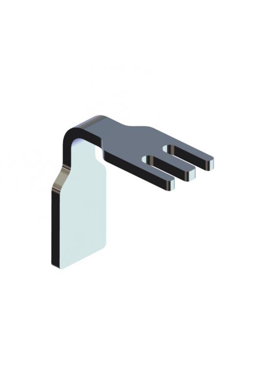 Slangeholder med styr for T-spor, aluminium