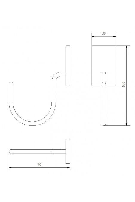 Mask & tubing hook, T-slot bracket. JB 162-00-00
