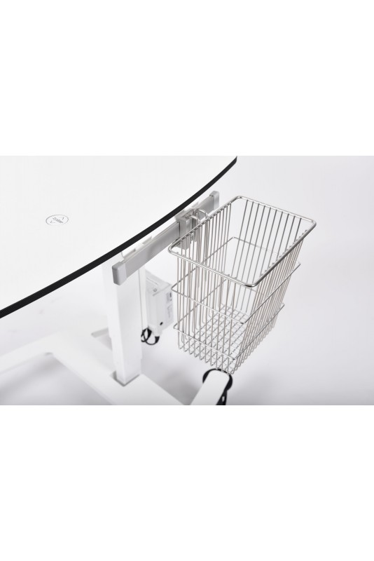 Wire basket 6 L, conical, hook for T-slot