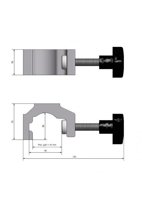 Multibracket, aluminium, fit from 16-41mm, JB 158-00-00