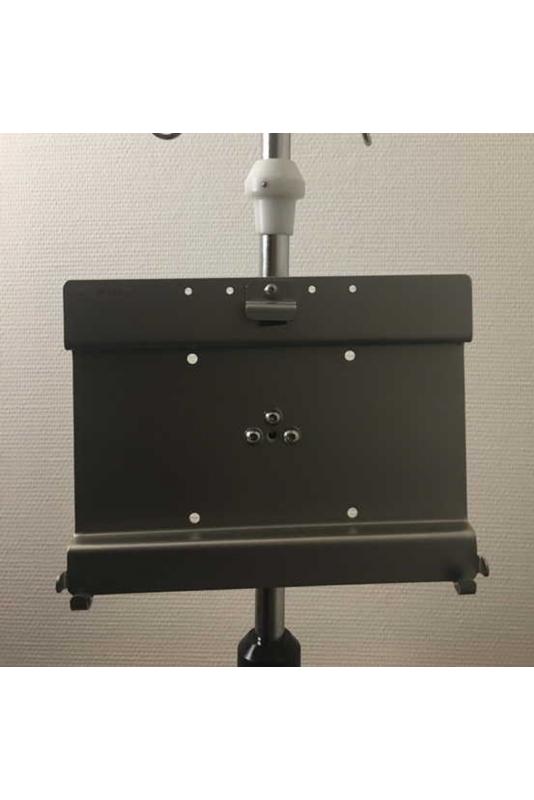 Ipad/Tablet-holder, multiklo til dropstativ/søjler. JB 248-19-158
